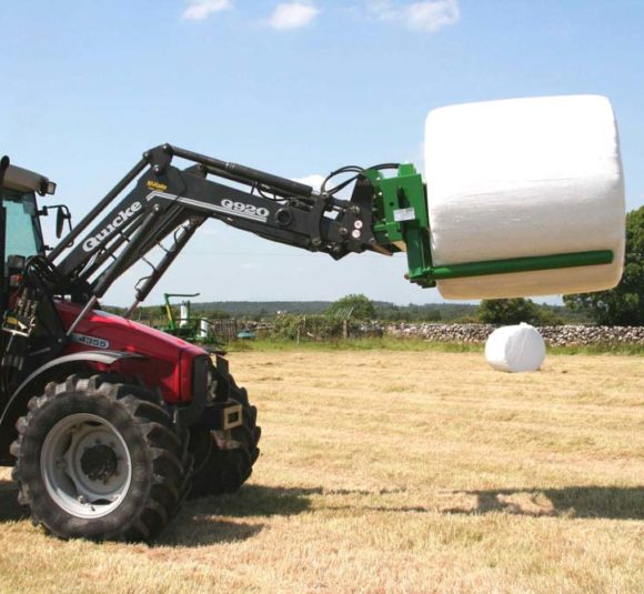 McHale 691 Round Bale Handler 11 on MF 4355